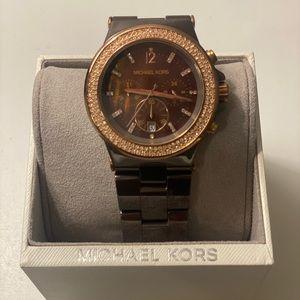 Ceramic Rose Gold Michael Kors watch